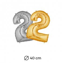 Globo Numero 2 Foil 35 cm