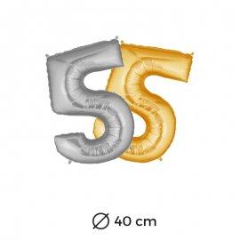Globo Numero 5 Foil 40 cm