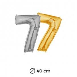 Globo Numero 7 Foil 40 cm