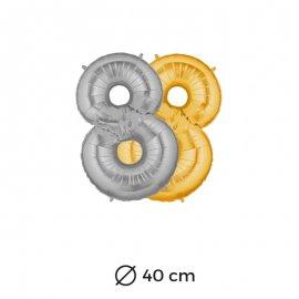 Globo Numero 8 Foil 35 cm