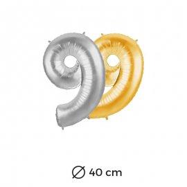 Globo Numero 9 Foil 35 cm