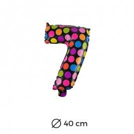 Globo Lunares Numero 7 Foil 40 cm