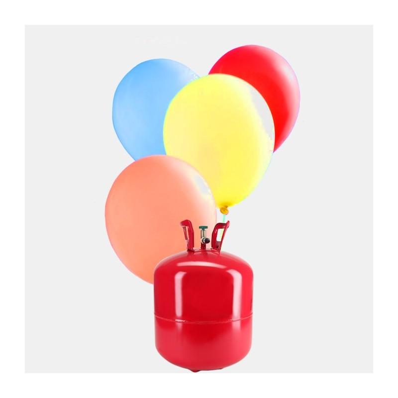 Bombona de helio grande con 50 globos pastel - Llenar globos con helio ...
