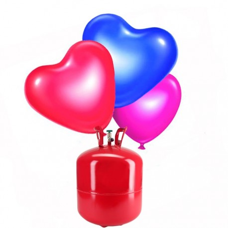 Bombona de Helio Grande con 50 Globos Corazón