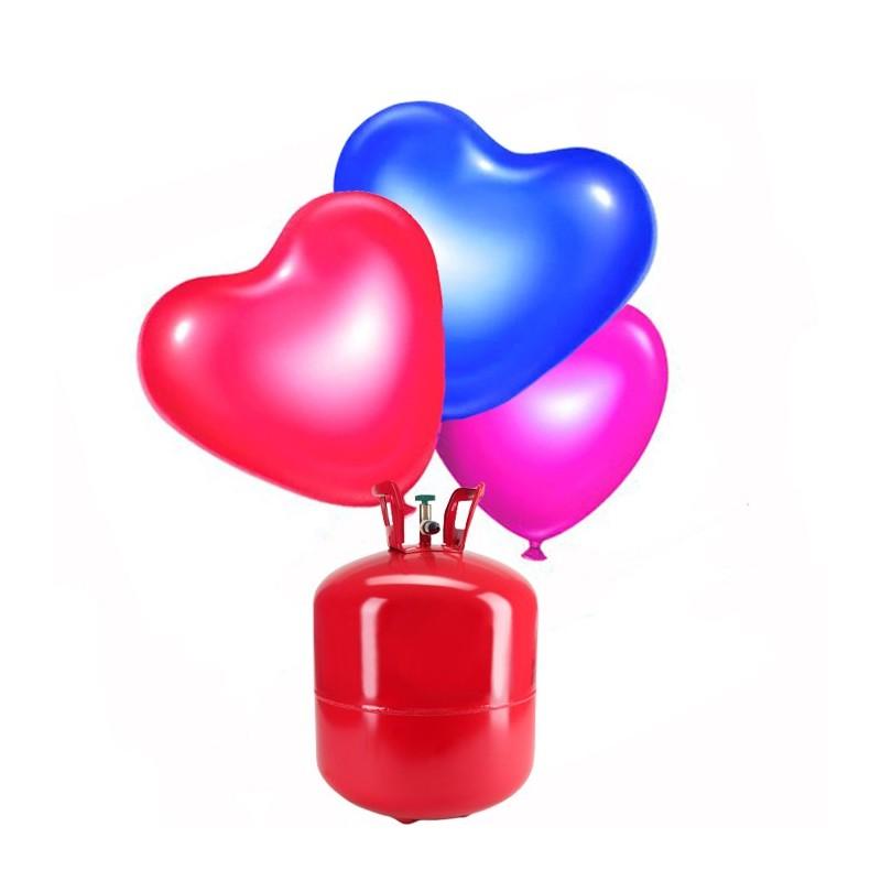 Bombona de helio grande con 50 globos coraz n - Bombona de helio para globos ...