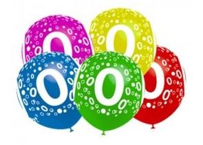 ¿Dónde comprar globos con forma de números?